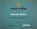 Finalist Certificate Artavista World Wid