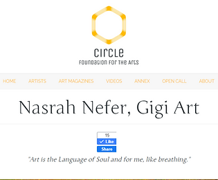 Nasrah Nefer, Gigi Art – Circle Foundati