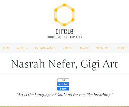 Nasrah Nefer, Gigi Art – Circle Foundati