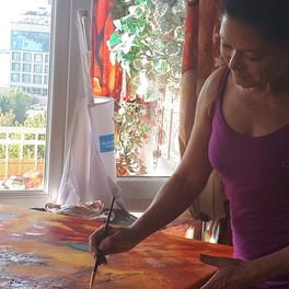 Nasrah Nefer - Gigi Art, at work