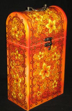 Gigi Art - Wine Boxes,Flower Design