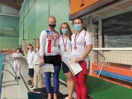 Ярославская спортсменка завоевала три медали на чемпионате России по подводному спорту