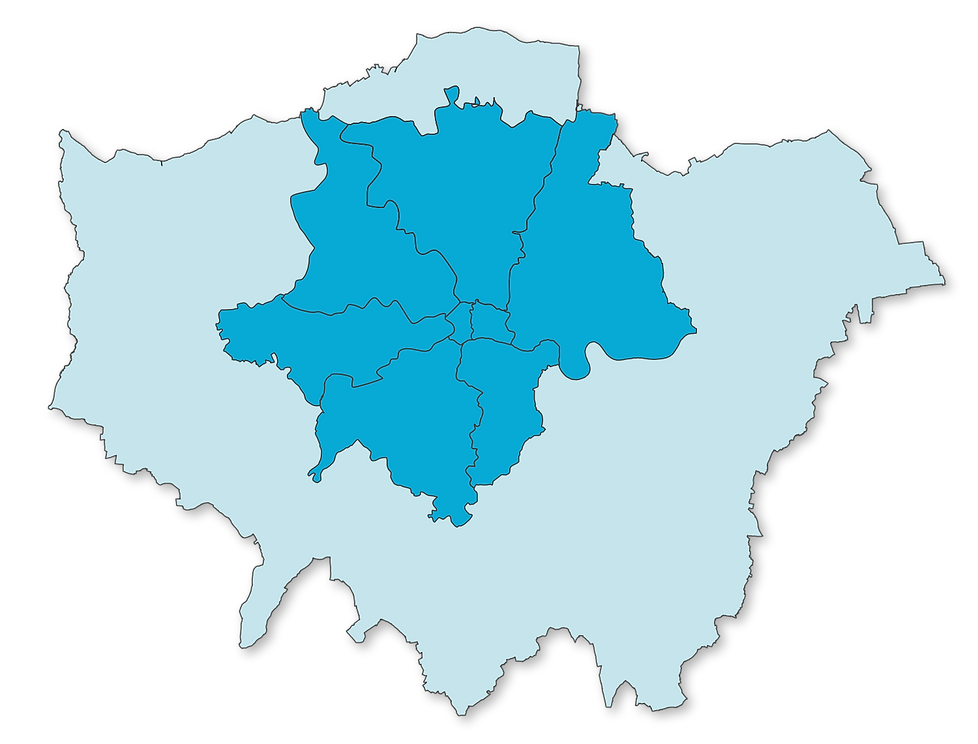 London Areas Covered