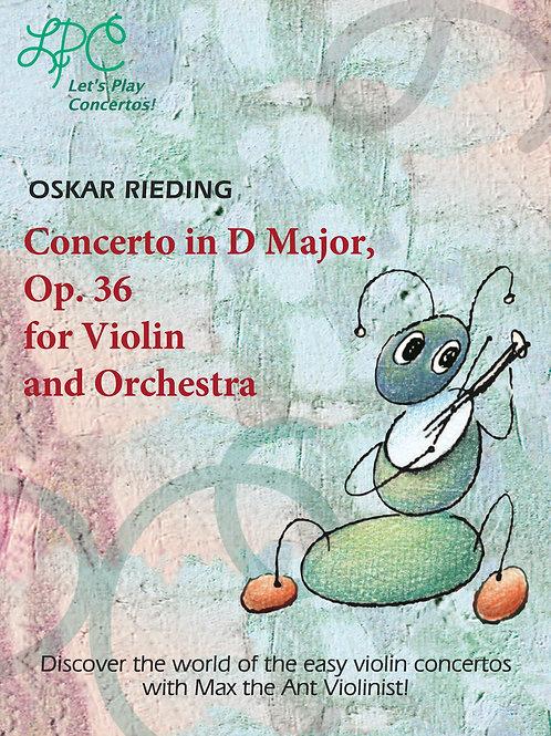Oskar Rieding: Concerto in D major, op.36 fo Violin and Orchestra