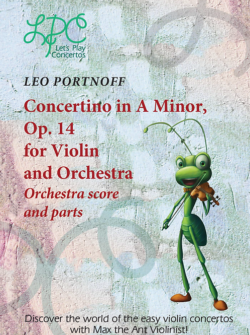 Leo Portnoff: Concertino in A minor, op.14 for Violin and Orchestra Complete Orc
