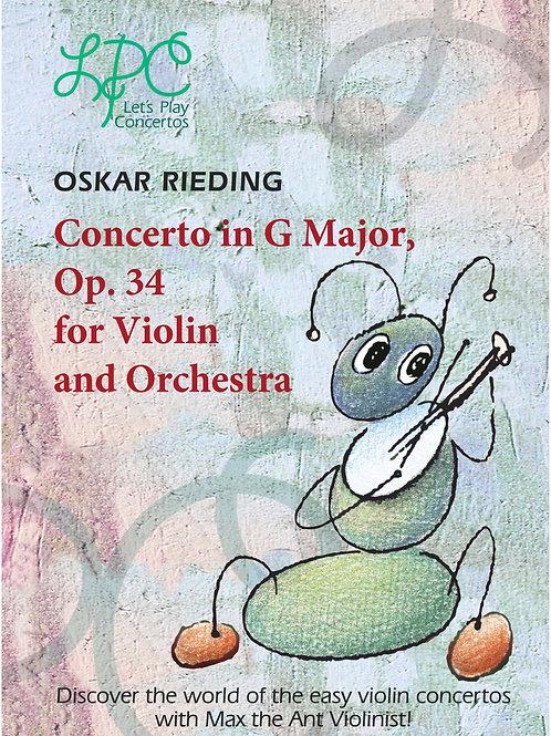 Oskar Rieding: Concerto in G major, op.34 for Violin and Orchestra