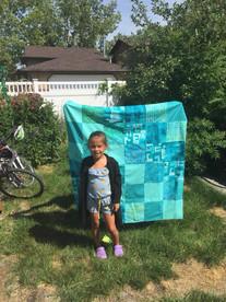 Beautiful blue quilt