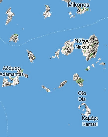 Islands in the south Cyclades