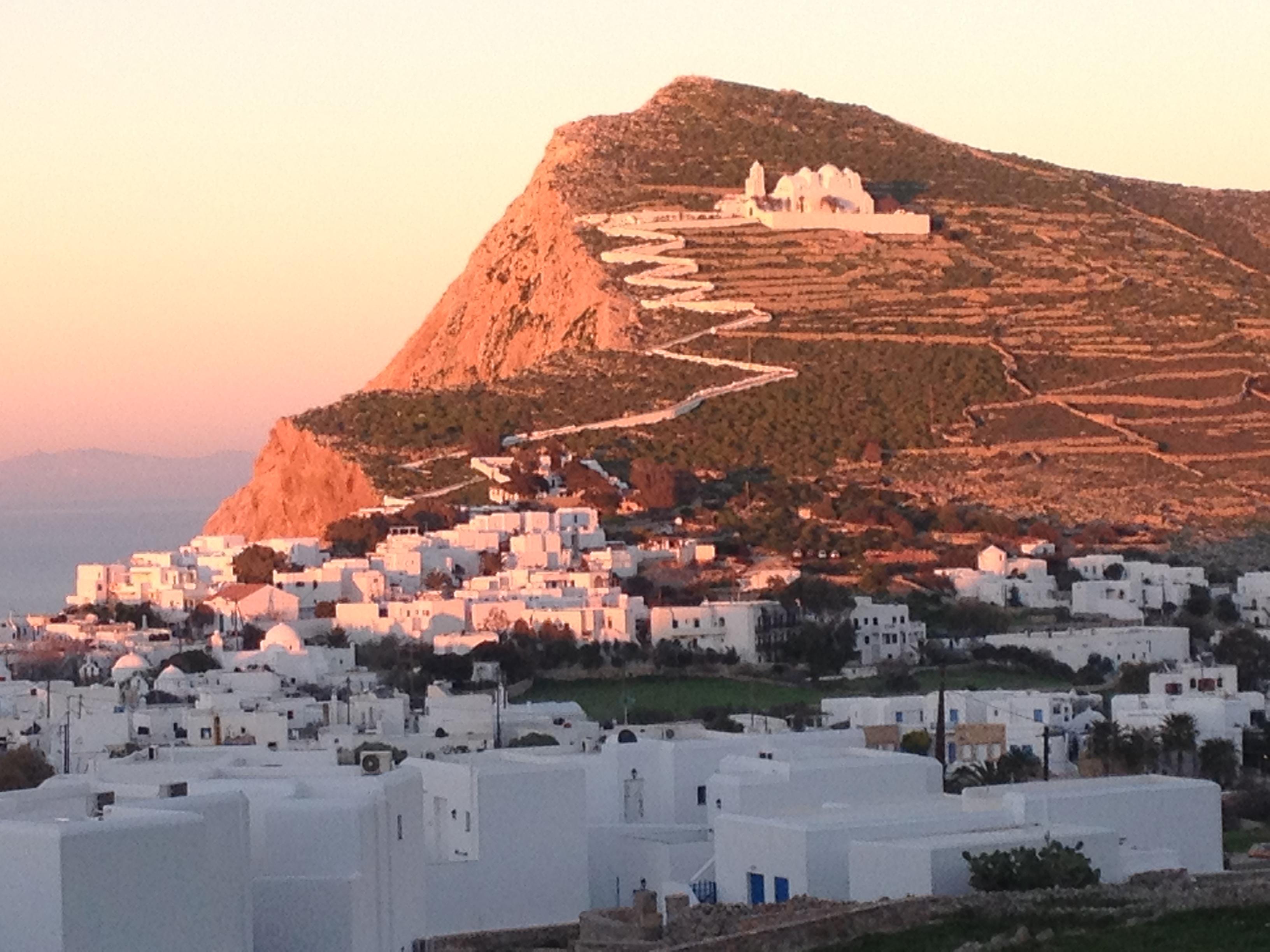 Evening colors on Folegandros