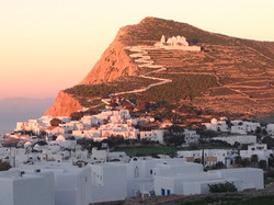 Evening colors on Folegandros