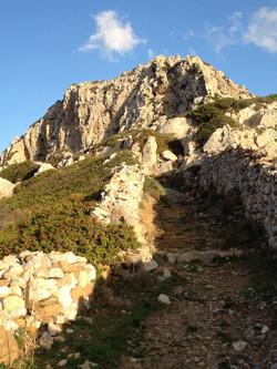 Foot path in Folegandros