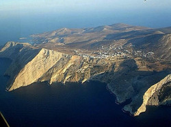 Folegandros from the air