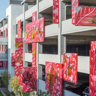 Parking Garage Butterfly Mural