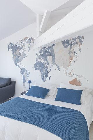 vue du lit de la chambre Bajazet