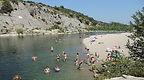 La plage de Collias dans les gorges du Gardon