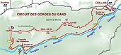 Plan dela randonnée des gorges du gardon