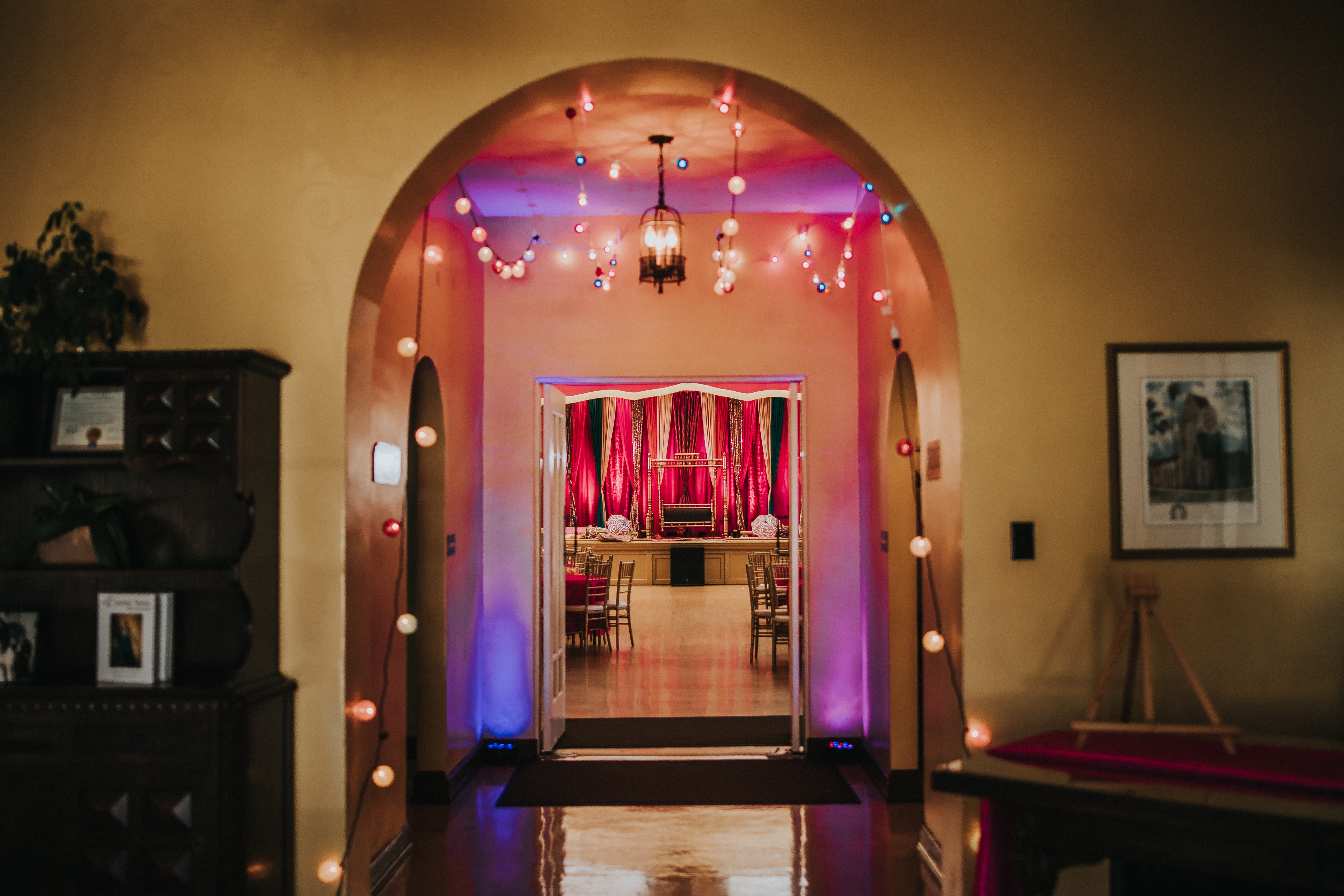 Bay Area Sikh Wedding, Sangeet and Reception Decorations