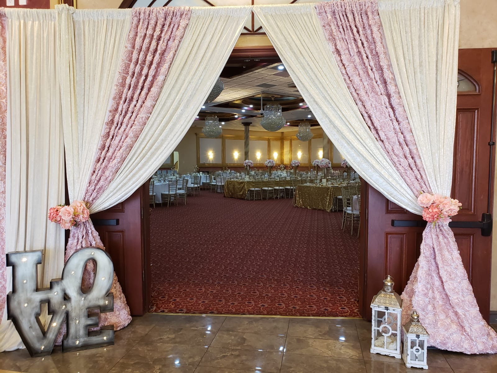 Wedding Entrance Draping & Decor