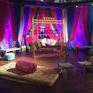 Swing, Jhulla, Sangeet & Indian Wedding Decorations at Bombay Garden, Newark California
