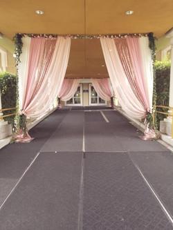 Wedding Entrance Draping & Decor