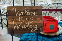 Wedding Entrance Table Decor