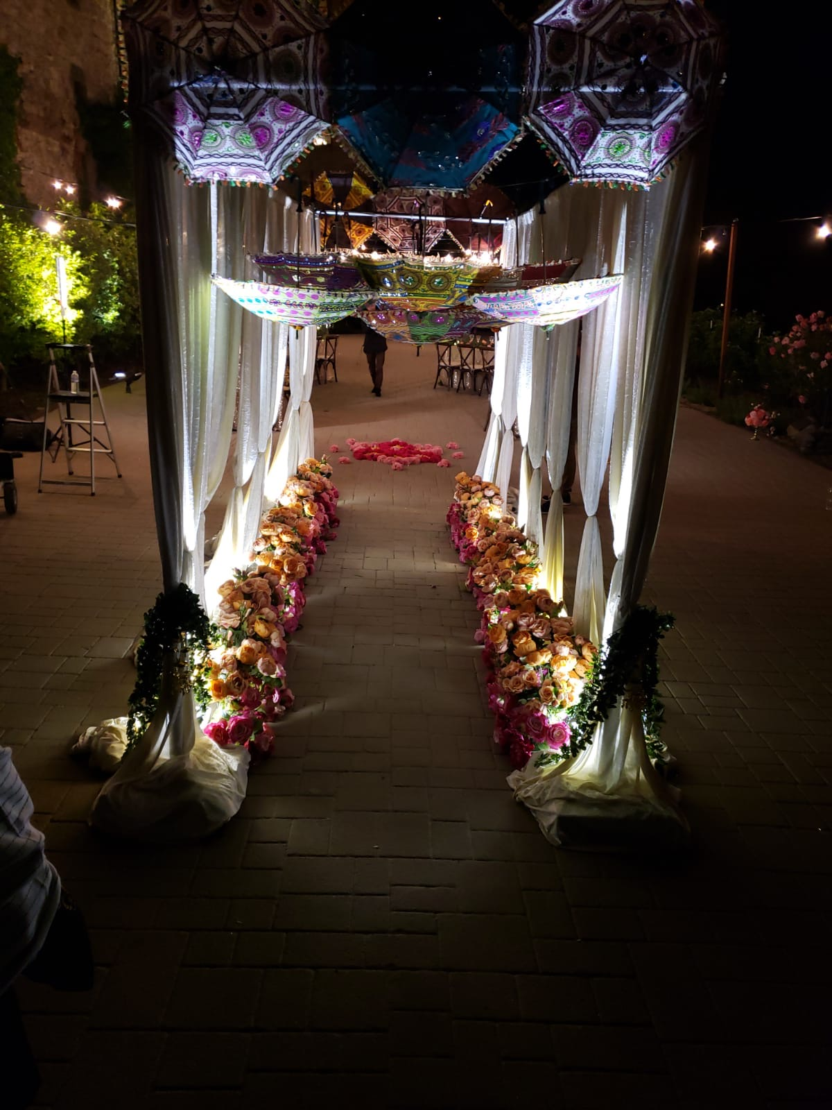R&R Event Rentals - Bay Area Indian Wedding Decor - Backdrops & Draping, Table Linens, Centerpieces,