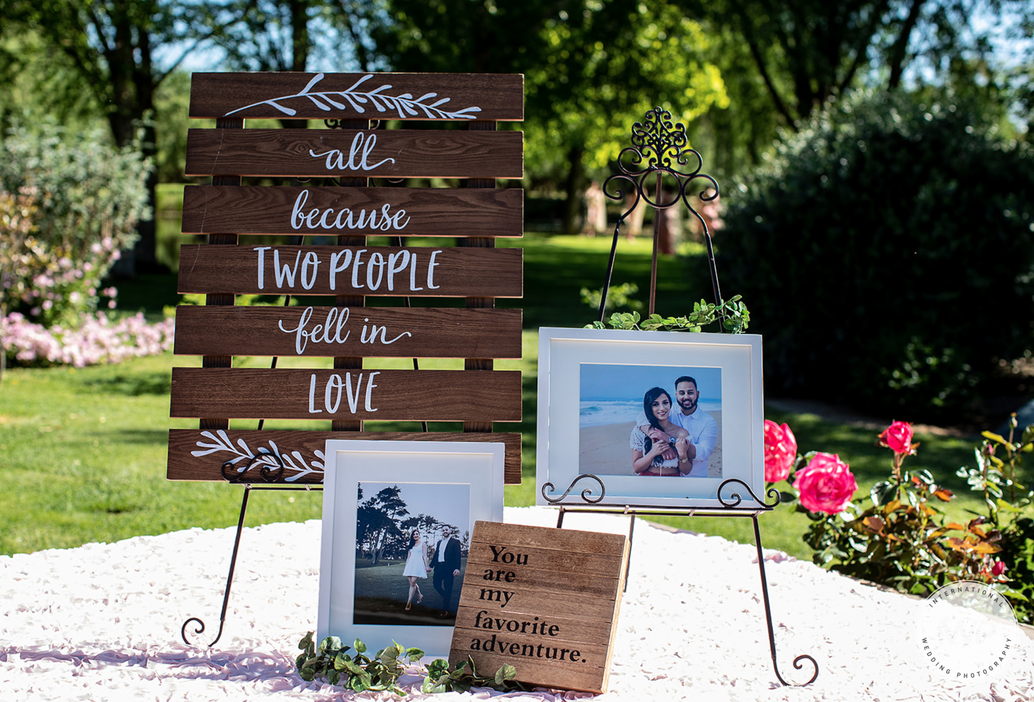 Wedding Entrance Table Decor