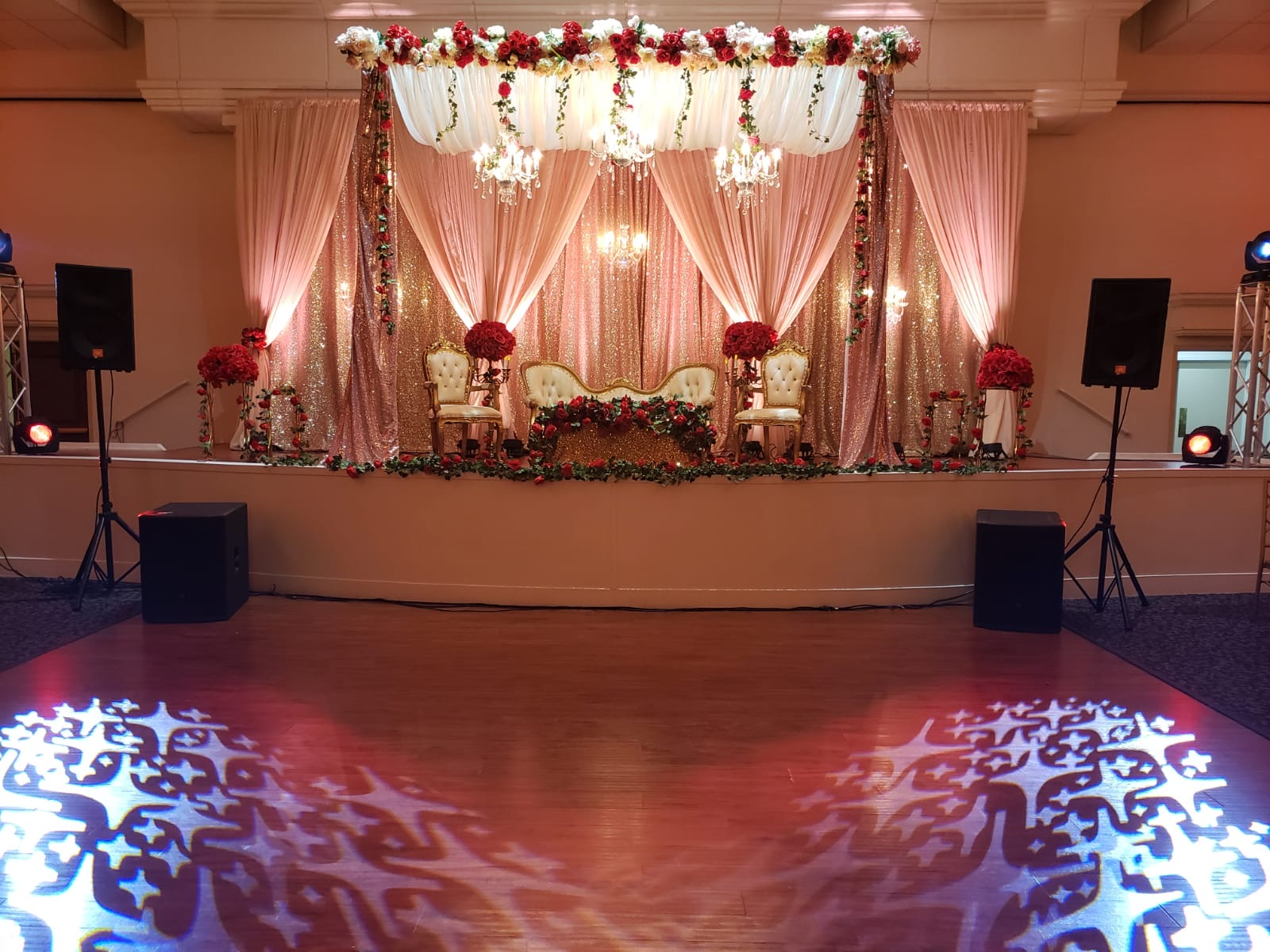 Indian Wedding Ceremony Decor, Indian Wedding Sangeet Decorations, Indian Wedding Reception Decor, J
