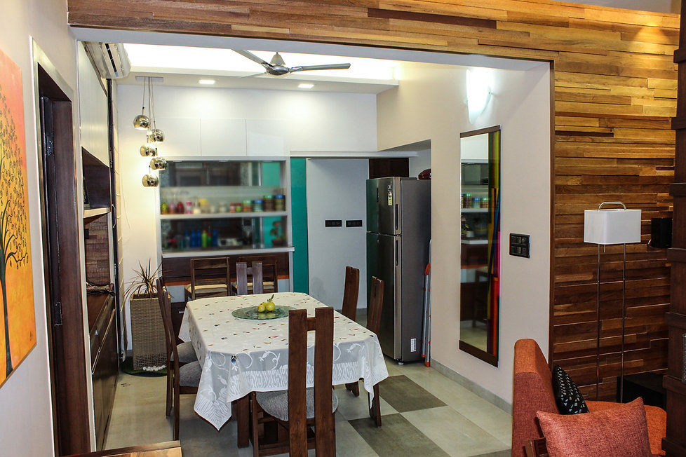 Dining Area Green Interiors Rustic Lighting leading Architectural firm in Delhi