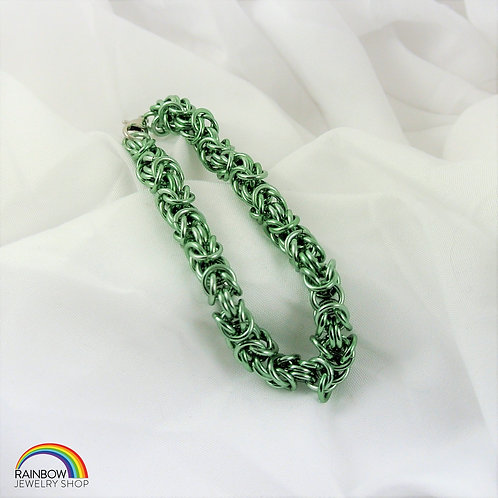 Green Chainmaille Bracelet