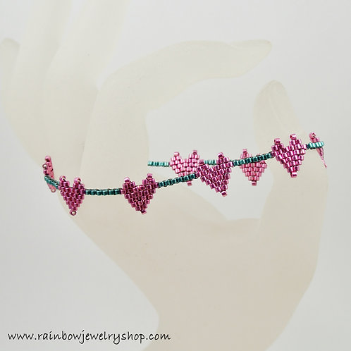 Beaded Hearts Bracelet
