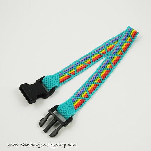 Rainbow Triangles Bracelet