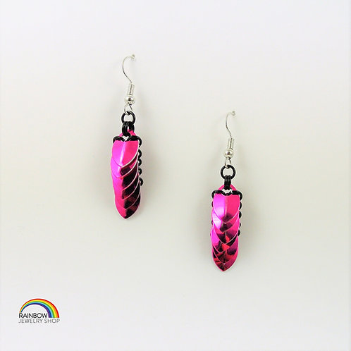 Pink Chainmaille Earrings