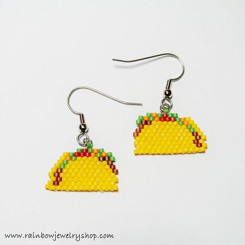 Beaded Taco Earrings