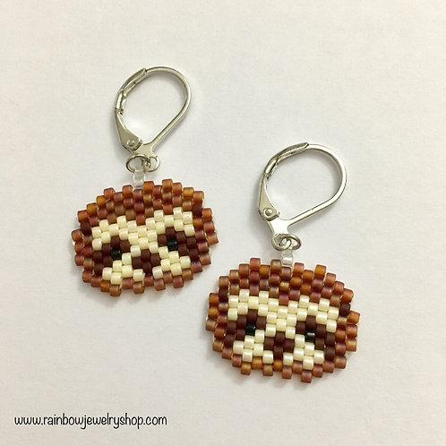Beaded Sloth Earrings