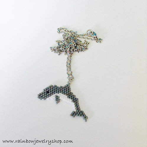 Beaded Dolphin Necklace