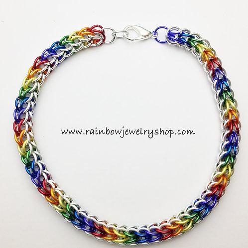 Rainbow Chainmaille Bracelet