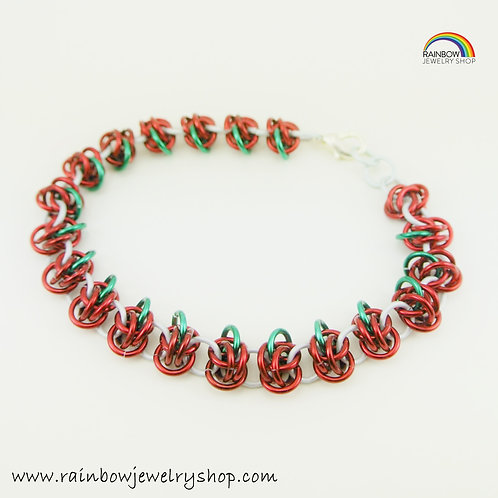 Chainmaille Apples Bracelet