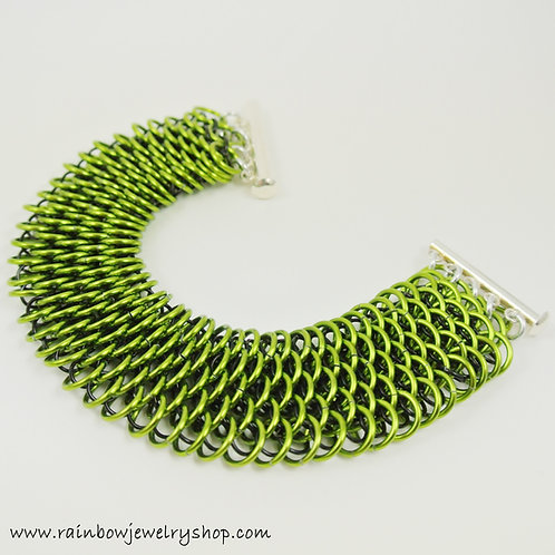 Lime Chainmaille Bracelet