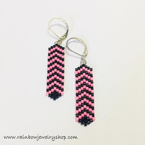 Striped Beaded Earrings