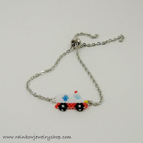Beaded Ambulance Bracelet