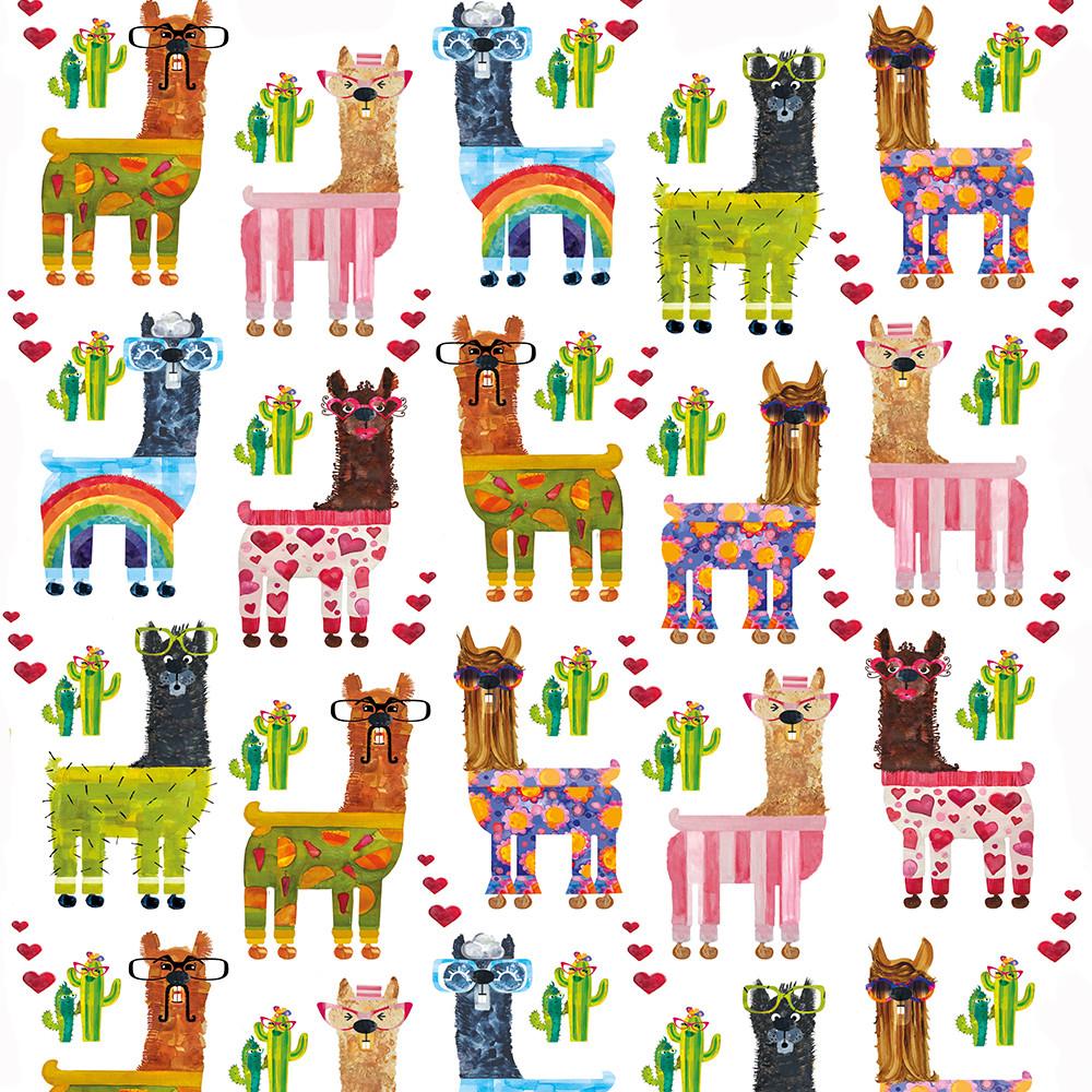Llamas in pjs pattern