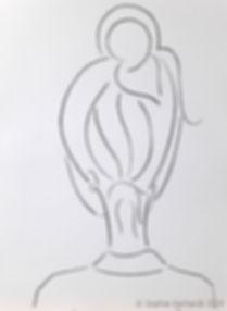 Self, charcoal on paper, 42 x 59,4 cm, l