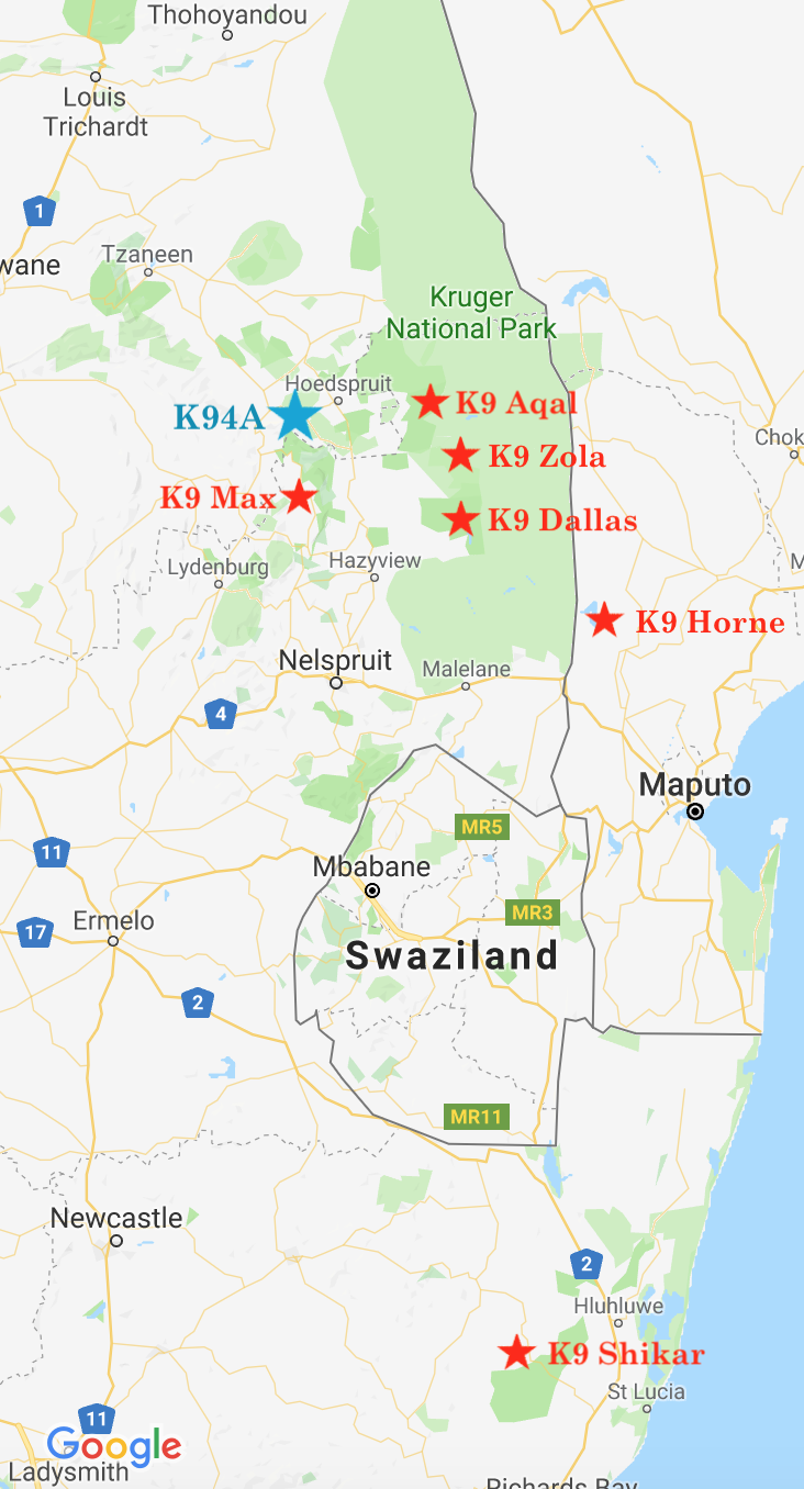 K9 SA Map           (Jan 2019)