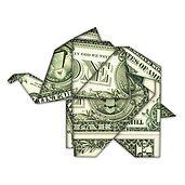 used origami elephant - original shutter