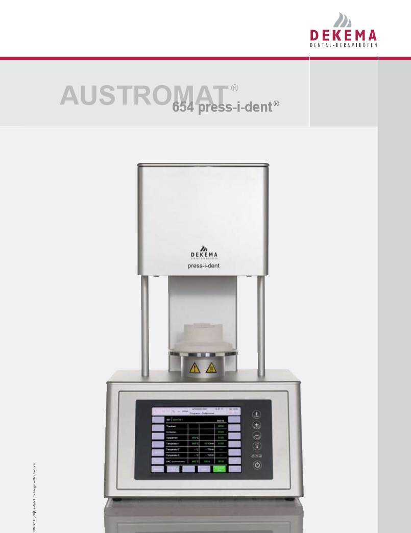 Dekema Austromat ® 654 press-i-dent