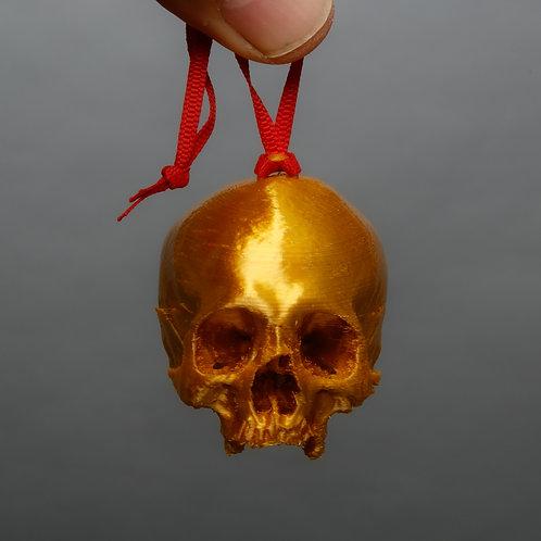 Dana Younger Skull Ornaments, Gold skull