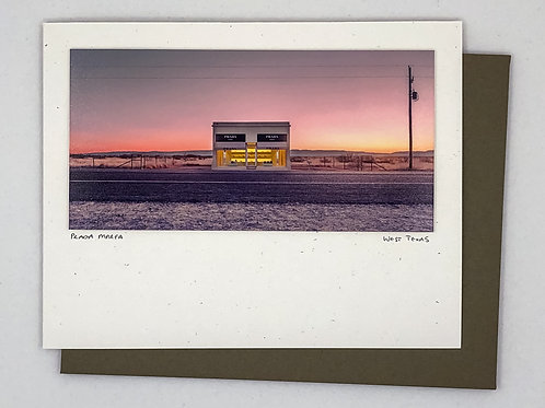 Slow Fuse Photography Prada Marfa Greeting Card