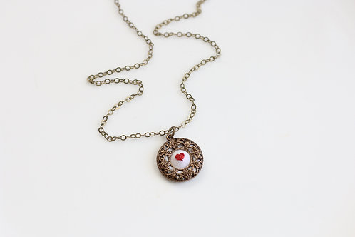 Poppy & Fern Heart necklace
