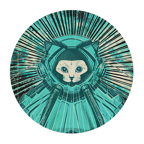 Todd Kale Space Cat Print